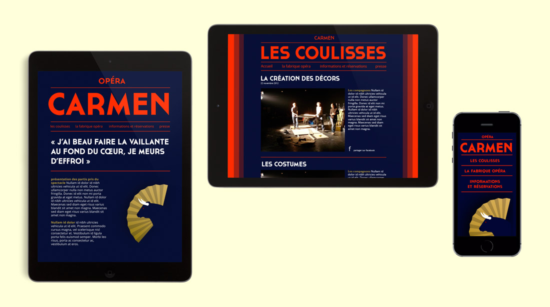 site internet Carmen site internet adaptable sur tablettes et smartphones