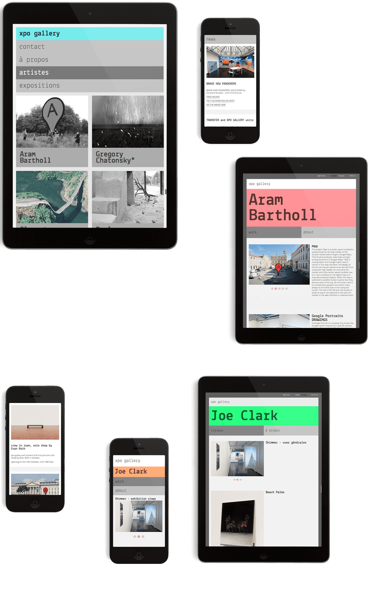 site po gallery - ipad et iphone