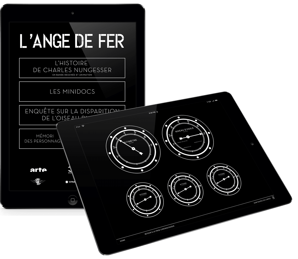 application Ipad - ange de fer
