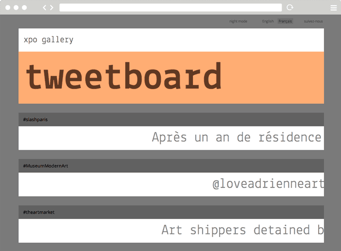 tweetboard - site xpo gallery